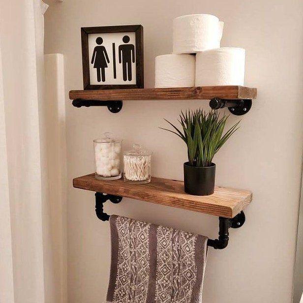 Pin By Alisha Wetzell On House Makeover In 2020 Floating Shelves Diy Wooden Wall Shelves Floating Shelves
