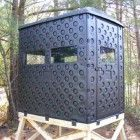 Formex Snap Lock 4×6 Portable Deer Hunting Blind Interlocking Double Wall Panels. Sets up in only 15 minutes without any tools! Snap Lock Hunting Blinds utilize a unique system of interlocking panels that assemble securely in minutes without the need for hardware or tools. The double wall construction keeps you warmer in winter and cooler. $709.99 (free shipping) Click for video and more…