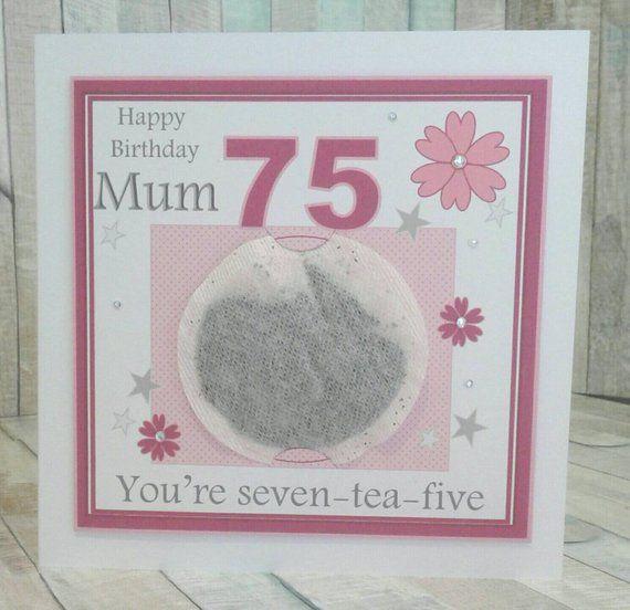 Personalised 75th Birthday Card Soeur Tante Maman Nana Grand-mère mère toute