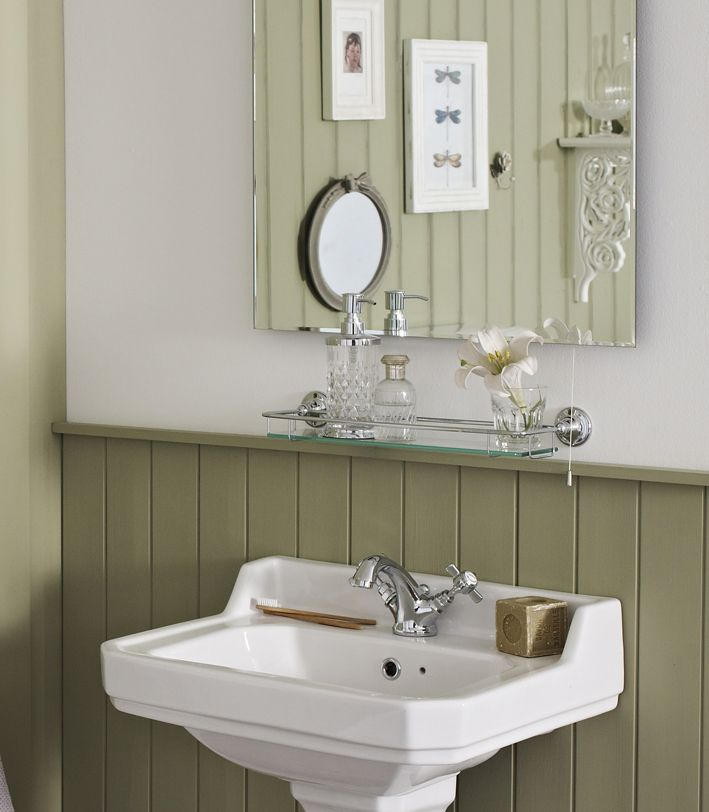 ideal for providing extra storage space in addition to the basin surround this glass shelf - Bathroom Accessories London
