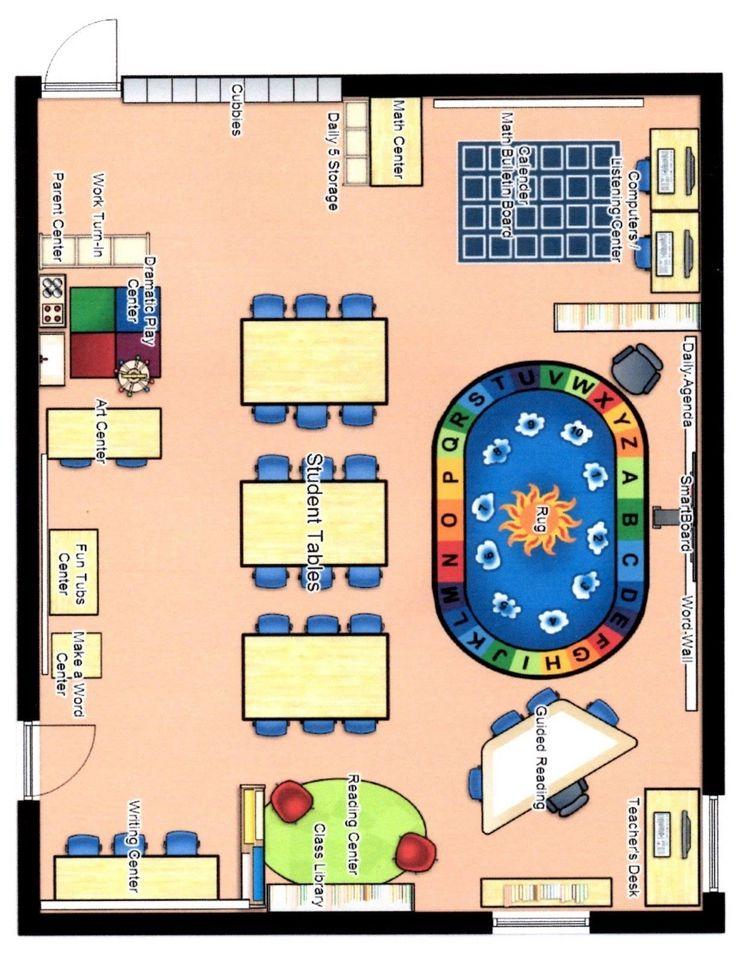 25 Pre K Classroom Floor Plan Markcritz Template Design