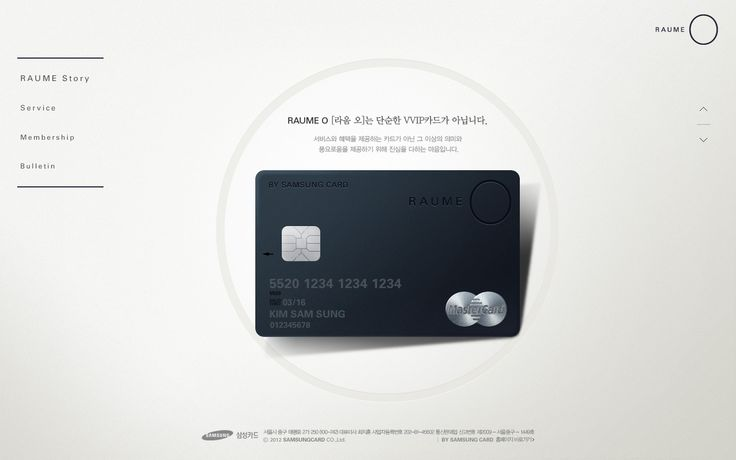 Samsung card, RAUME O
