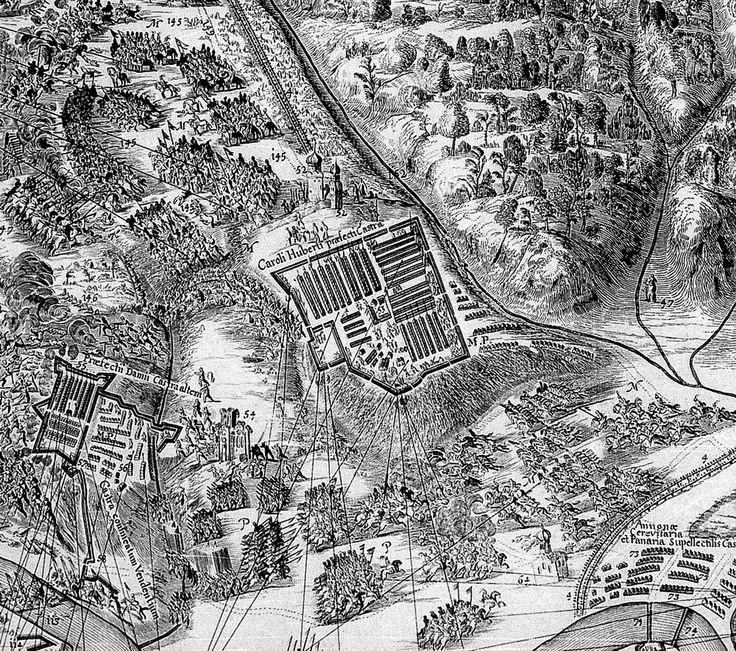 Obóz moskiewskich rajtarów Huberta 1633
