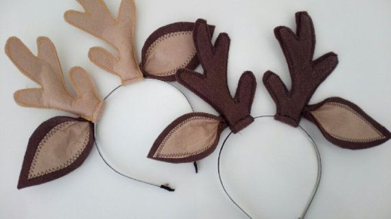 Felted Reindeer horn-Reindeer horn-Deer Ears with by xfunnyx