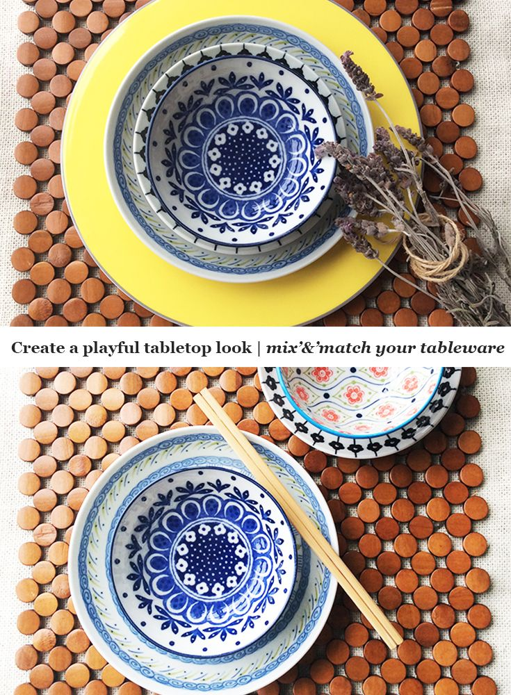 Learn how to combine your tableware to create a fun and playful table. Featuring beautiful Japanese Ceramics.