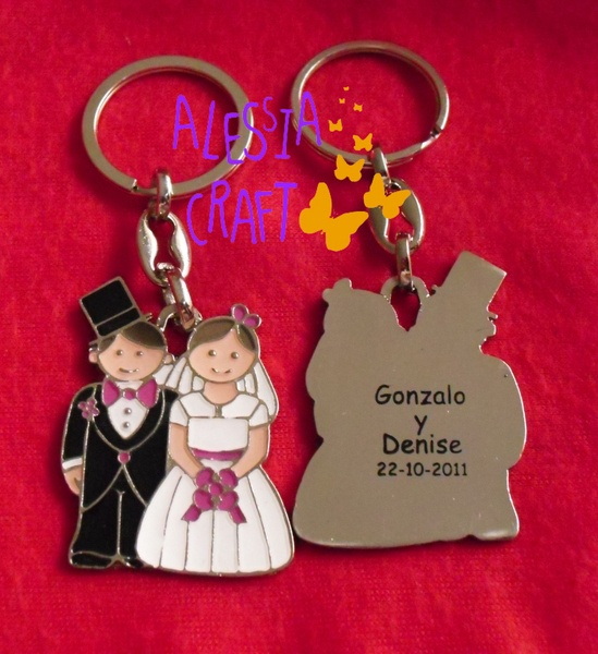 Recuerdo de Bodas en forma de llavero/Keychain Wedding Favors