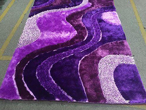 Dark Purple Light Purple Lavender Shaggy Shag Area Rug 8u0027... Https: