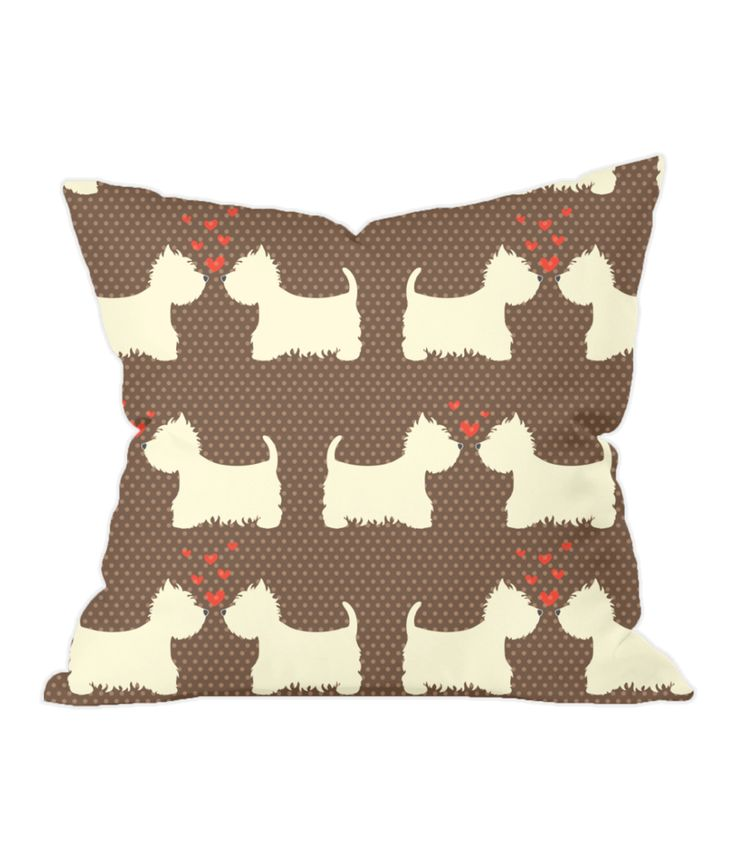 Westies in Love Throw Cushion
