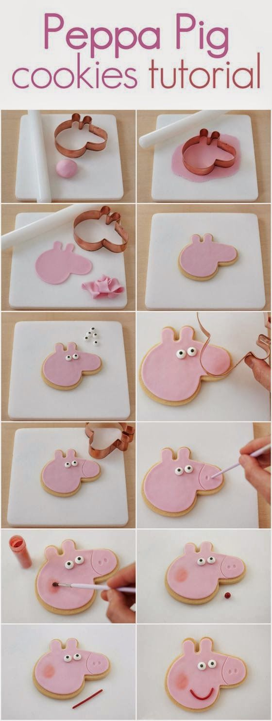 Watch Peppa pig cartoons full episodes: How to make a real Peppa pig cake : Easy Image Tutorial
