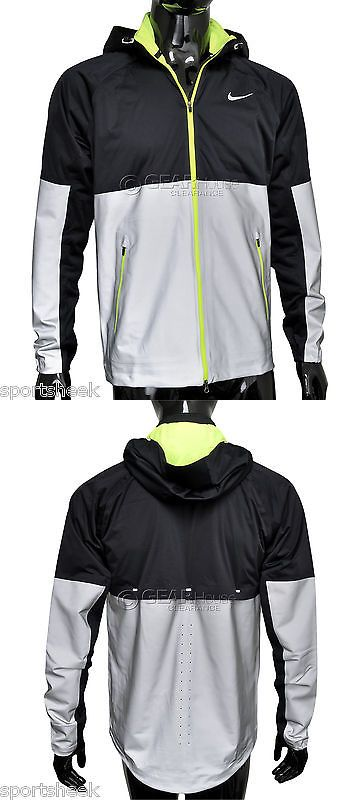 Jackets and Vests 59285: New Nike Shield Flash Womens Running Jacket, Black / Reflective Silver Large BUY IT NOW ONLY: $166.22