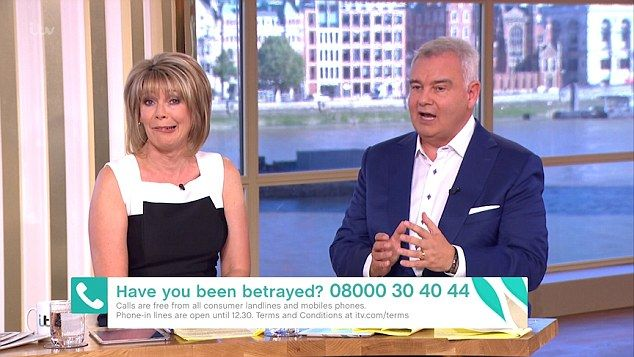 Digging a hole: Eamonn Holmes' loyalty to Manchester United can't be called into question, after he admitted he would be more likely to cheat on wife Ruth Langsford than change the club he supports