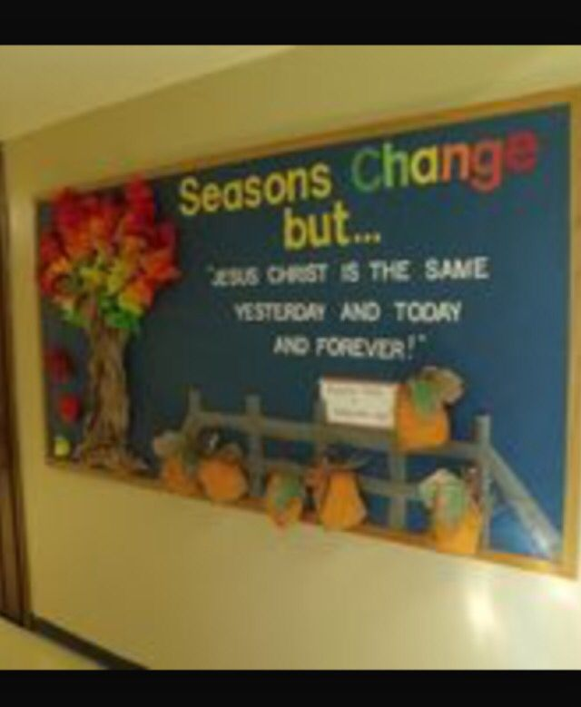 Religious Fall Bulletin Board But The Word Of God Stands