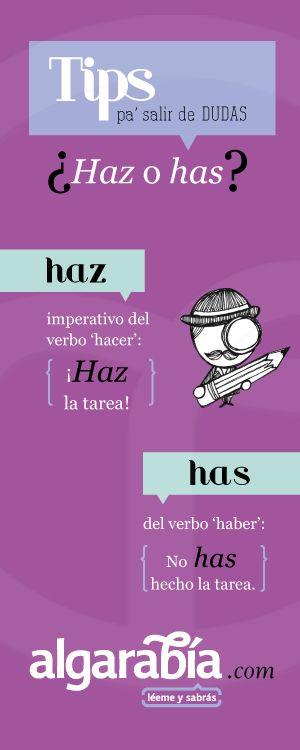 ¿Haz o has? #TipDeLengua #Español