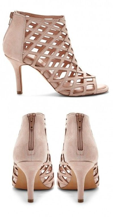 Nude Cage Heels - great for outfits heading into Fall! Wear these with dresses, skirts, shorts, and skinnies!