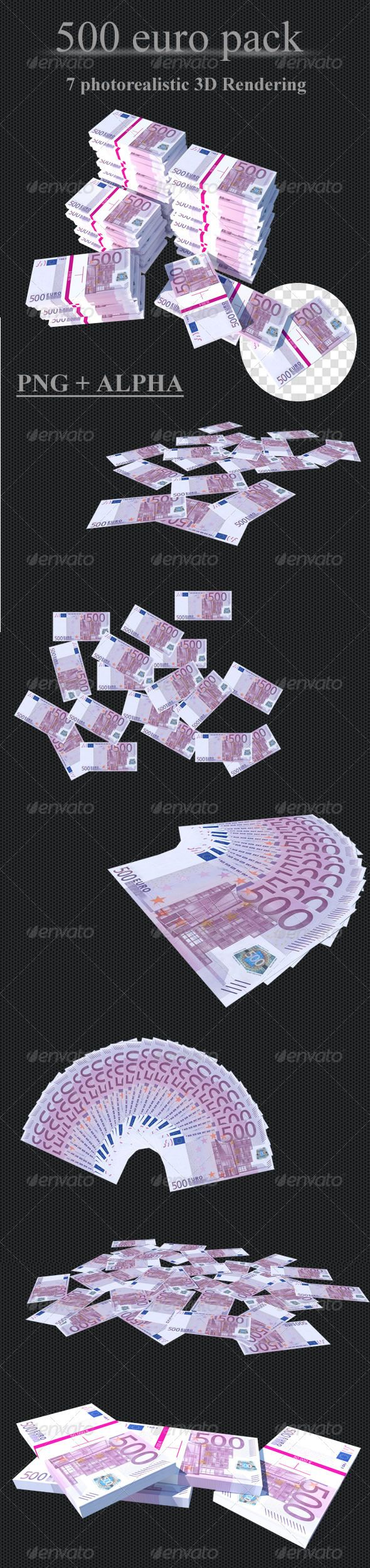 500 Euro // Pack #GraphicRiver Great collection of Euro, usable for images in design of sites, banners, booklets, posters, articles in magazines and more… Pack includes 7 variation of money. SPEC PNG files + Alpha high resolution : 4000×3000 7 Money variation Feel free to contact me for any customisation Created: 16March12 GraphicsFilesIncluded: TransparentPNG HighResolution: No Layered: No MinimumAdobeCSVersion: CS PixelDimensions: 4000x3000 Tags: bank #bundle #business #cash #eur #euro…