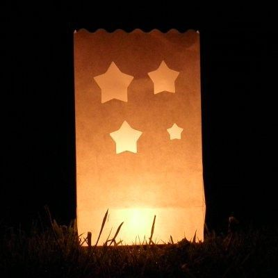Candle Bags ster sjabloon bruin