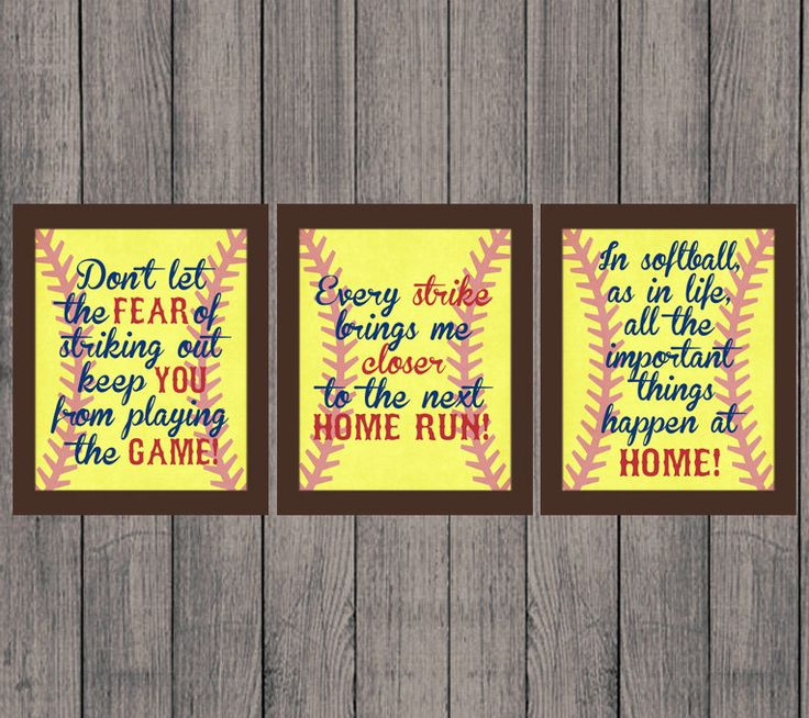 Softball Quotes Softball Gift INSTANT DOWNLOAD High by andyneal331