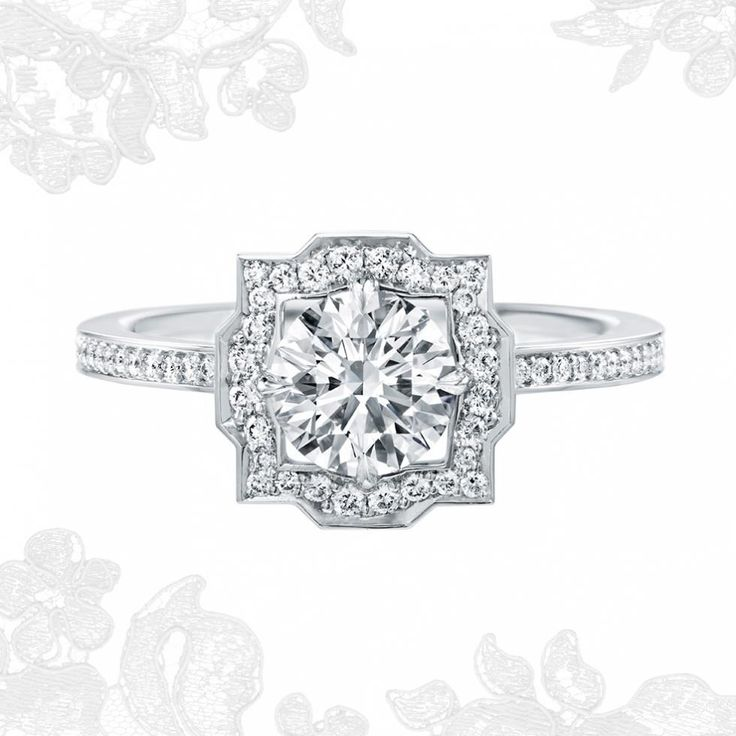 Belle by Harry Winston™, Round Brilliant Diamond Micropavé Engagement Ring | Harry Winston