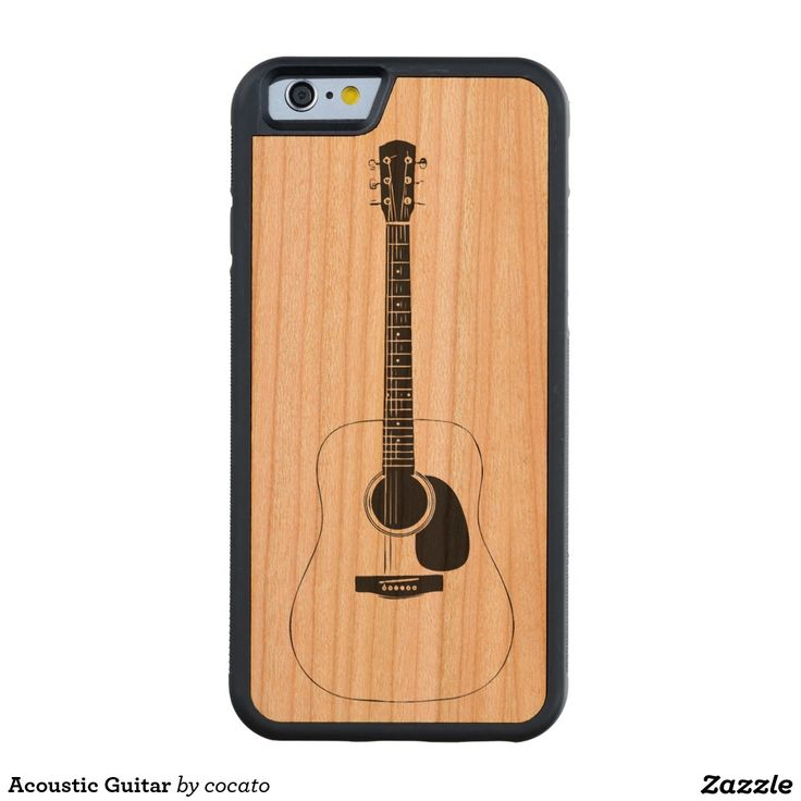Acoustic Guitar Carved® Cherry iPhone 6 Bumper Case