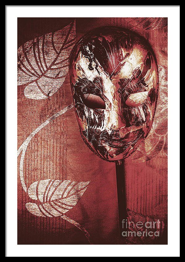 Horror Framed Print featuring the photograph Day Of The Dead Carnival Mask by Jorgo Photography - Wall Art Gallery