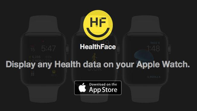 Visualizzare le informazioni Salute nel quadrante del Apple Watch con HealthFace | appleiDea
