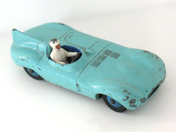 Dinky Car Toy Jaguar Type D 238 with Driver by FindingMaineVintage