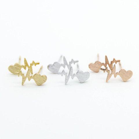 Heart beat earrings – Imsmistyle.