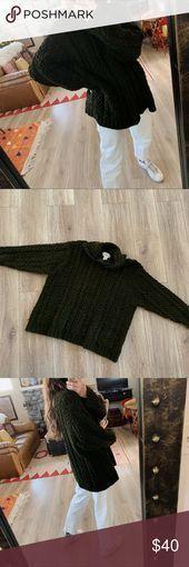 Vintage oversized chunky knit evergreen sweater Vintage oversized chunky knit ev...   - My Posh Picks - #Chunky #evergreen #Knit #Oversized #Picks #Posh #Sweater #vintage #übergroße strickjacke #übergroße strickjacke #übergroße strickjacke