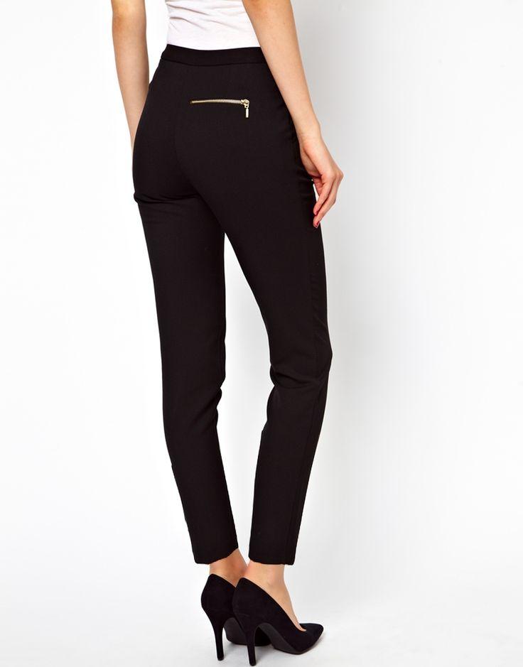Image 2 of ASOS Skinny Pants with Zip Detail