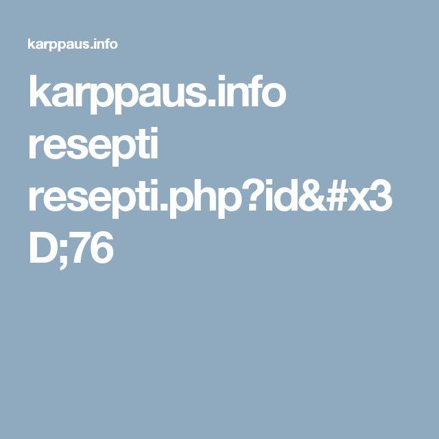 karppaus.info resepti resepti.php?id=76