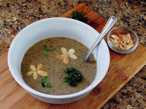 ... about soup on Pinterest | Tomato bisque, Garlic soup and Kale soup