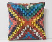 floor pillow outdoor decorative pillow kilim pillow traditional pillow DECOLIC gypsy pillow cover geometric throw pillow boho cushion 16316