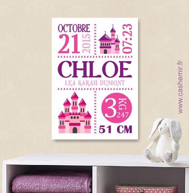 Cadeau de naissance bébé, stats de naissance, décoration chambre enfant garçon fille - Fichier Imprimable - n°36 : Décoration pour enfants par cashemir
