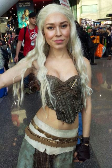 The Best Khaleesi Costumes We've Ever Seen  #refinery29  http://www.refinery29.com/2016/09/122141/khaleesi-halloween-costumes-daenerys-targaryen#slide-2  Do you see that shimmery angelic glow on her perfect face? ...