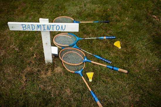 Badminton is the best. Casual reception and cocktail hour may need some awesome lawn games.