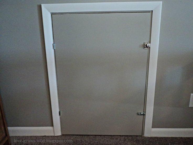 Diy Knee Wall Access Door Now That You Ve Seen The
