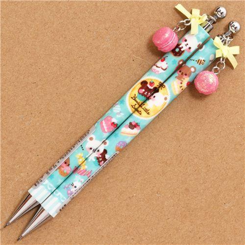 cute donut bear mechanical pencil macaroon charm Japan