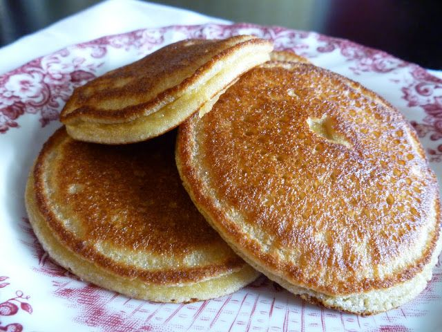 Pancakes (grain free, gluten free, dairy free)   my BIG FAT grain free life. I will have to substitute the honey for Ideal Sweetener, then it'll be perfect.