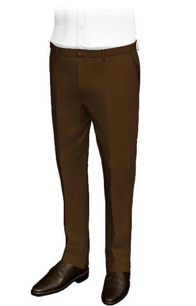 Weldon Brown slim fit corduroy pants. These custom pants are made of a in thick lines woven fabric, which remind us of a plowed field. The perfect outfit for cold weather. In addition, their honey-colored buttons add a classy touch.