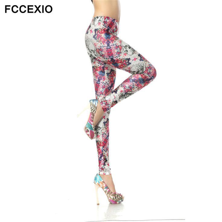 FCCEXIO New Brand Mid Waist Leggings Fitness Spring Leggins trousers 3D print Skeleton Leggins Girls Punk Rock Clothing Ropa #Punk rock clothing http://www.ku-ki-shop.com/shop/punk-rock-clothing/fccexio-new-brand-mid-waist-leggings-fitness-spring-leggins-trousers-3d-print-skeleton-leggins-girls-punk-rock-clothing-ropa/