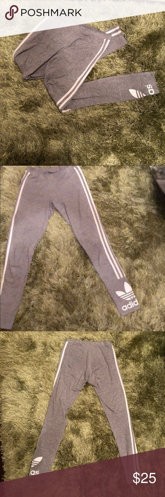 Gray Adidas Women's Leggings A pair of comfortable cotton leggings, perfect for a day of lounging around or spending some time in the gym! adidas Other