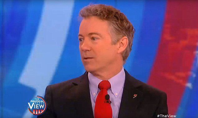 Rand Paul goes on The View only to be asked how tall he is | Daily Mail Online