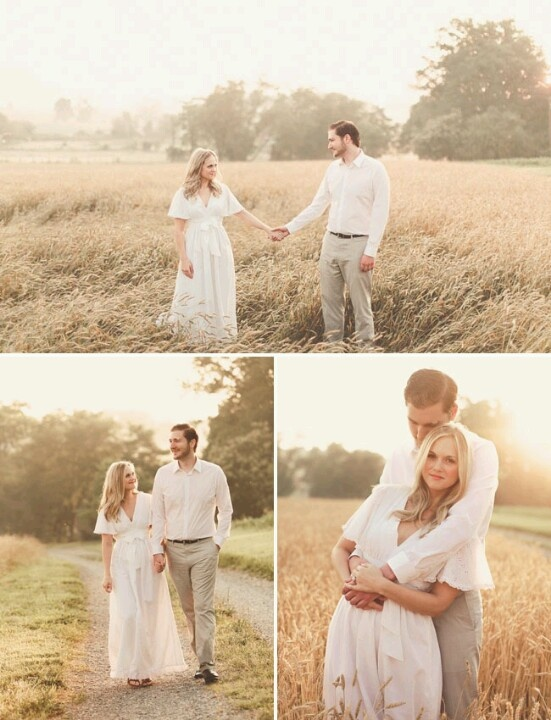 Romantic, golden engagement picture session