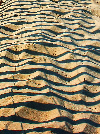Stripes on the sand