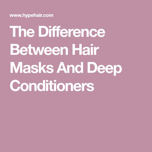 The Difference Between Hair Masks And Deep Conditioners
