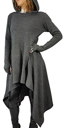 The Booty Gal Women's Long Batwing Sleeve Irregular Tops Blouse Shirt Dress will make you beautifulfashionablesexy and elegant.New for this season an essential for every fashion women or girlWe alw...