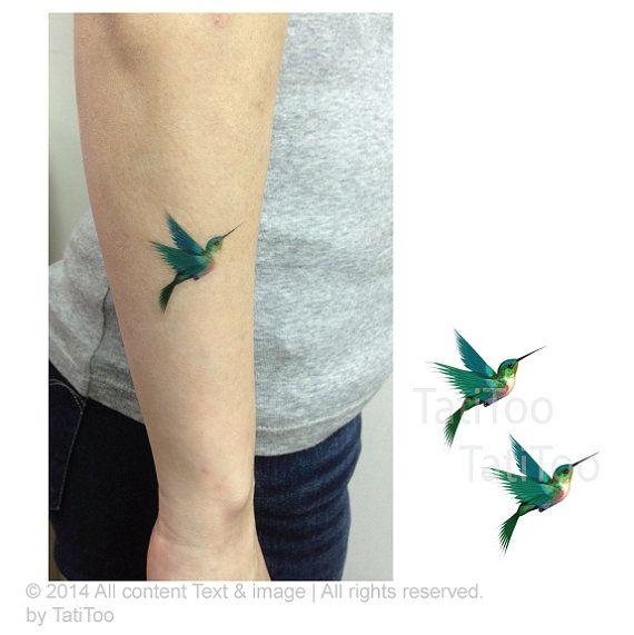 humming bird temporary tattoo Temporary Tattoo T048 by TatiToo, $3.99