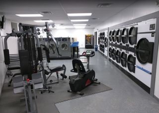 My local laundromat has gym equipment to use as you are waiting for your load to finish : mildlyinteresting