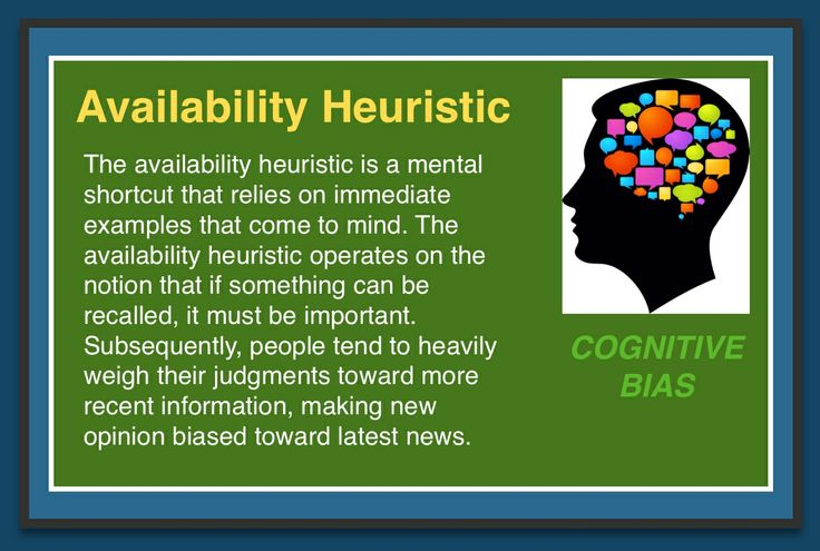 availability heuristic Availability heuristic definition the availability heuristic describes a mental strategy in which people judge probability, frequency, or extremity based on the ease with which and the amount of information that can be brought to mind.