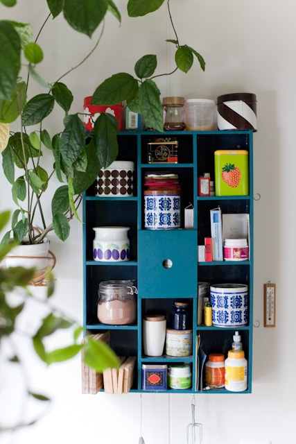 Modular storage for kitchen accessories that are pretty enough to keep on display.